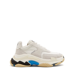 кроссовки Triple S low-top suede trainers