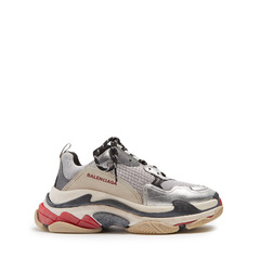 Balenciaga кроссовки Triple S low-top trainers 'Silver'