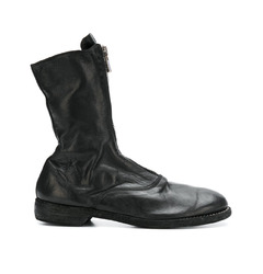 Guidi кожаные ботинки на молнии спереди