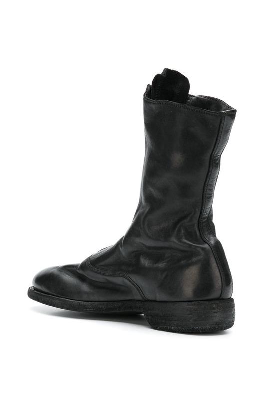 кожаные ботинки на молнии спереди Guidi, фото