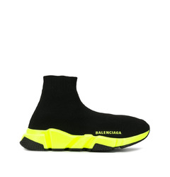 Balenciaga кроссовки-носки Balenciaga Speed Trainer (black/neon yellow)
