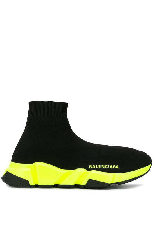 кроссовки-носки Balenciaga Speed Trainer (black/neon yellow) Balenciaga, фото