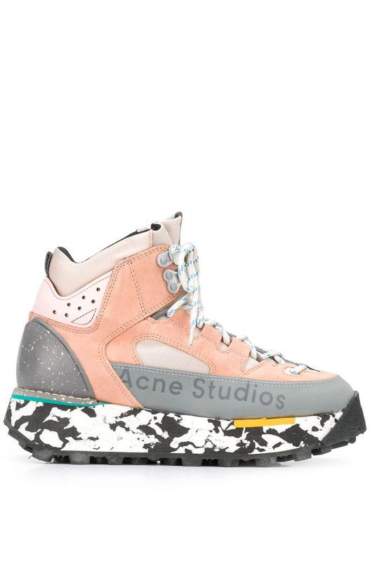 Высокие кроссовки на массивной подошве Acne Studios, фото