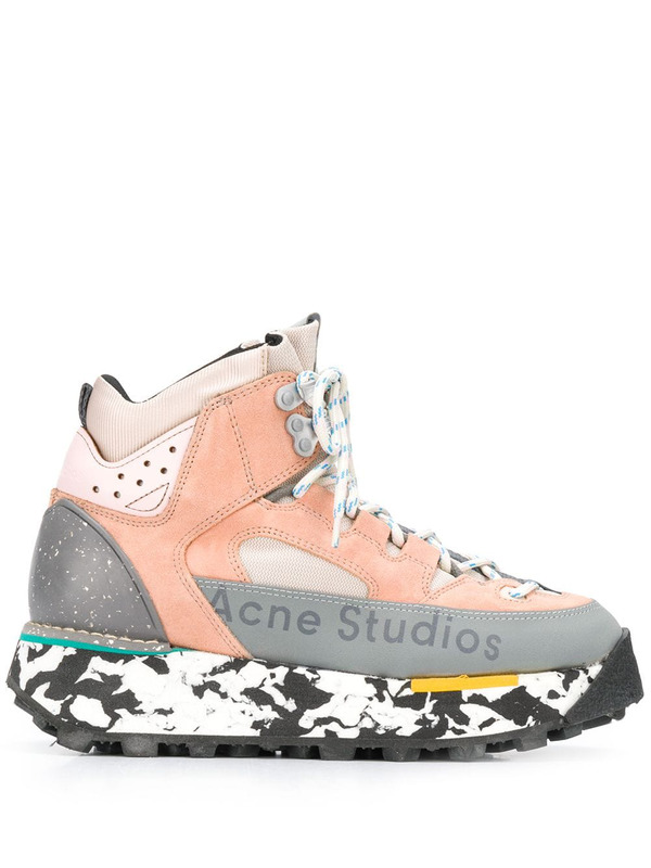 Acne Studios высокие кроссовки на массивной подошве