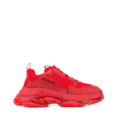 Balenciaga кроссовки Triple S Clear Sole Red