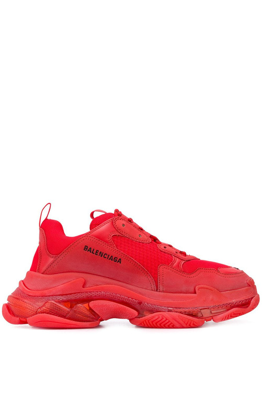 Кроссовки Triple S Clear Sole Red Balenciaga, фото