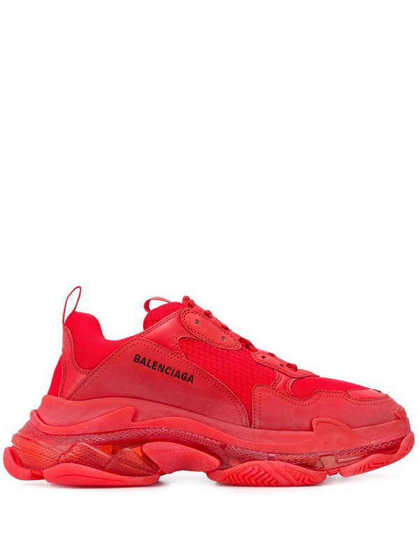 кроссовки Triple S Clear Sole Red