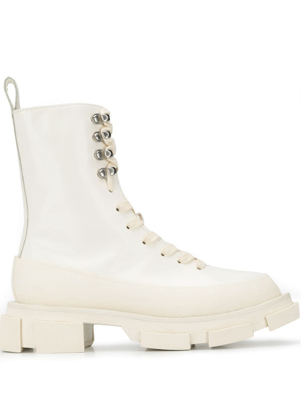 ботинки на ребристой подошве со шнуровкой