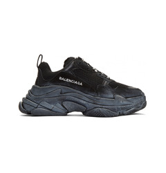 Balenciaga кроссовки Triple S Low-top / Black