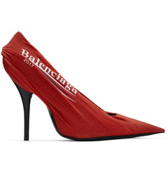 Balenciaga туфли Red Campaign Logo Knife Heels