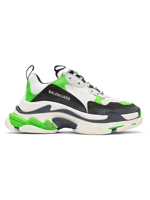Balenciaga кроссовки White & Green 'Triple S'