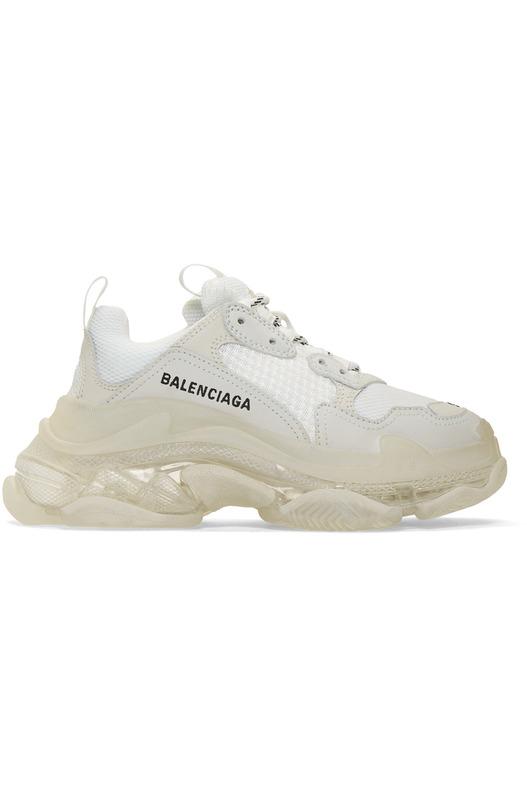 кроссовки с прозрачной подошвой 'Triple S' Balenciaga, фото