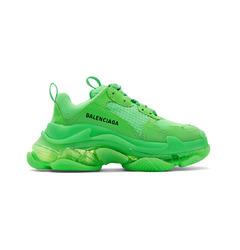 Balenciaga кроссовки Triple S Clear Sole Fluo Green