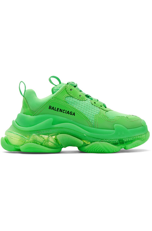 Кроссовки Triple S Clear Sole 'Fluo Green' Balenciaga, фото