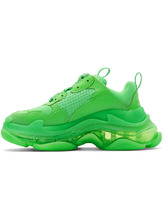Balenciaga кроссовки Triple S Clear Sole Fluo Green