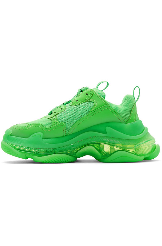 Кроссовки Triple S Clear Sole Fluo Green Balenciaga, фото