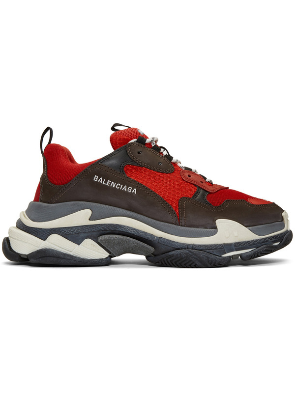 Balenciaga кроссовки Triple S Red & Black