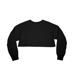 Serdiuk Studio Frayed Twill Crop Top Black