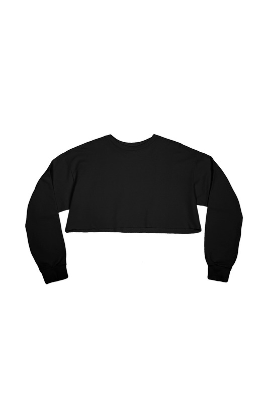 Frayed Twill Crop Top Black Serdiuk Studio, фото