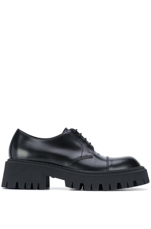 Черные дерби Tractor 65mm Lace-Up Balenciaga, фото