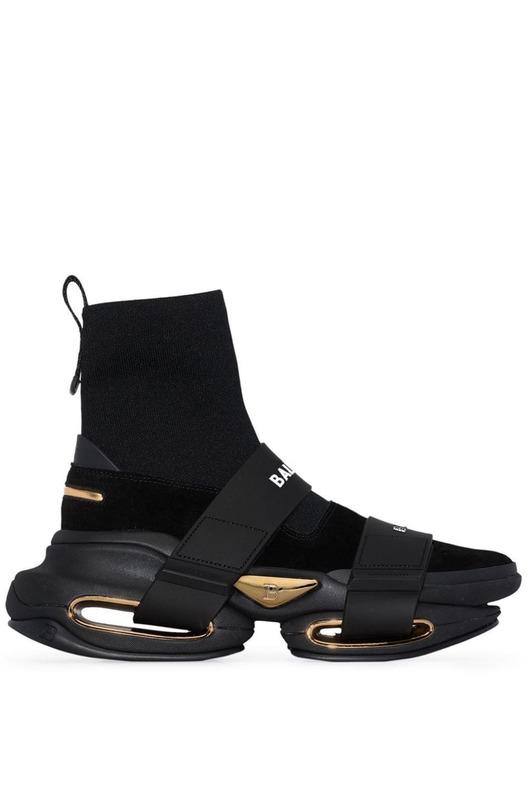 Черные высокие кроссовки B-Bold Balmain, фото
