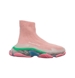Balenciaga кроссовки Triple S Air knit Mid Sock Pink