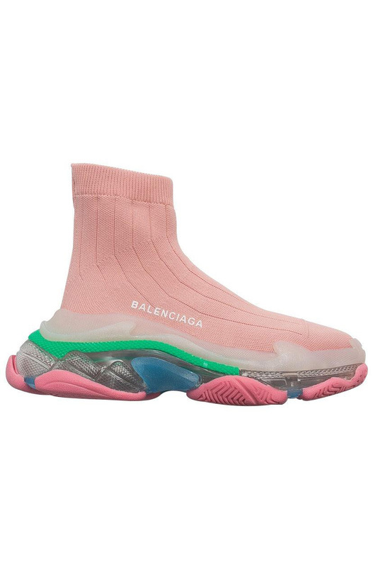 кроссовки Triple S Air knit Mid Sock Pink Balenciaga, фото