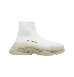 Balenciaga кроссовки Triple S Air knit Mid Sock White