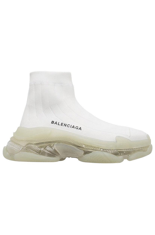 кроссовки Triple S Air knit Mid Sock White Balenciaga, фото