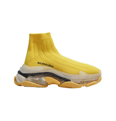Balenciaga кроссовки Triple S Air knit Mid Sock Yellow