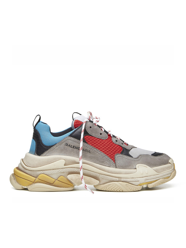 Balenciaga кроссовки Triple S sneakers Trainers Red Blue Multi