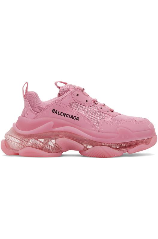 Розовые кроссовки Triple S Balenciaga, фото