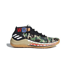 Adidas кроссовки BAPE x adidas Dame 4 TBD(Color01:Green)
