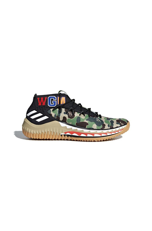 кроссовки BAPE x adidas Dame 4 TBD(Color01:Green) Adidas, фото