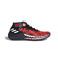 Adidas кроссовки BAPE x adidas Dame 4 TBD(Color01:Red)