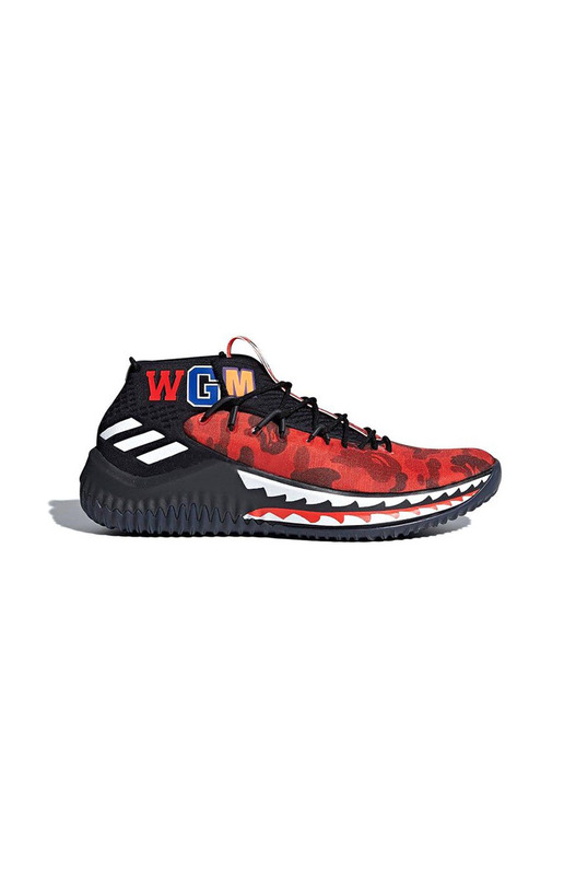 кроссовки BAPE x adidas Dame 4 TBD(Color01:Red) Adidas, фото