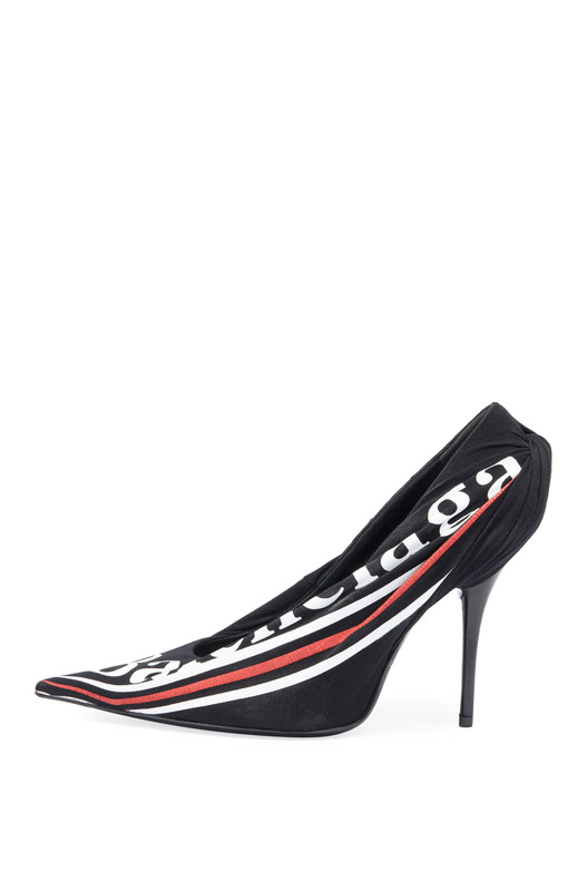 туфли Ruched Logo Jersey Pump