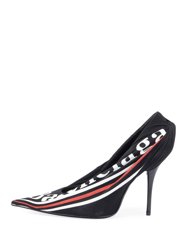 Balenciaga туфли Ruched Logo Jersey Pump
