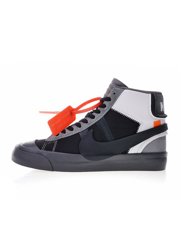 хайтопы Off-White x Nike Blazer Studio Mid Wolf Grey