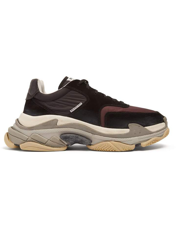Balenciaga кроссовки Triple S V2 Black Burgundy