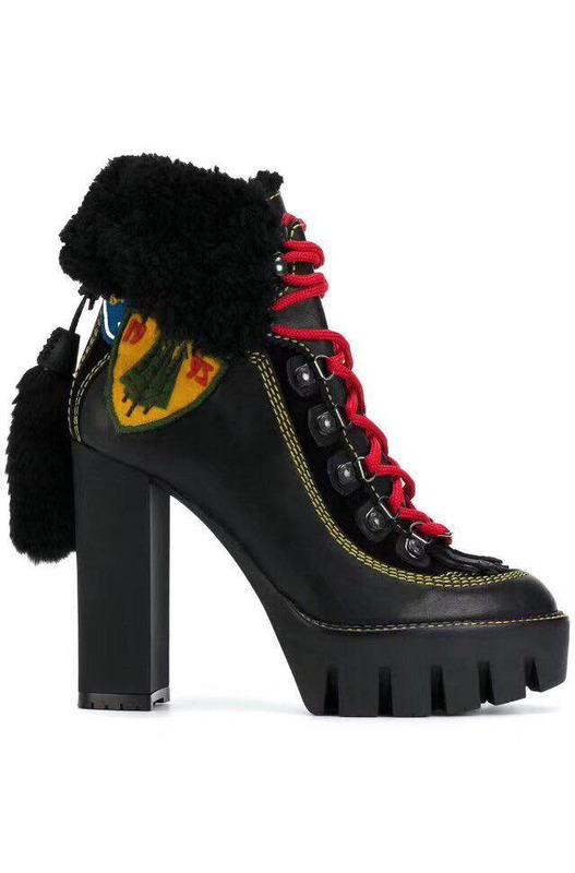 ботинки на массивном каблуке DSQUARED2, фото