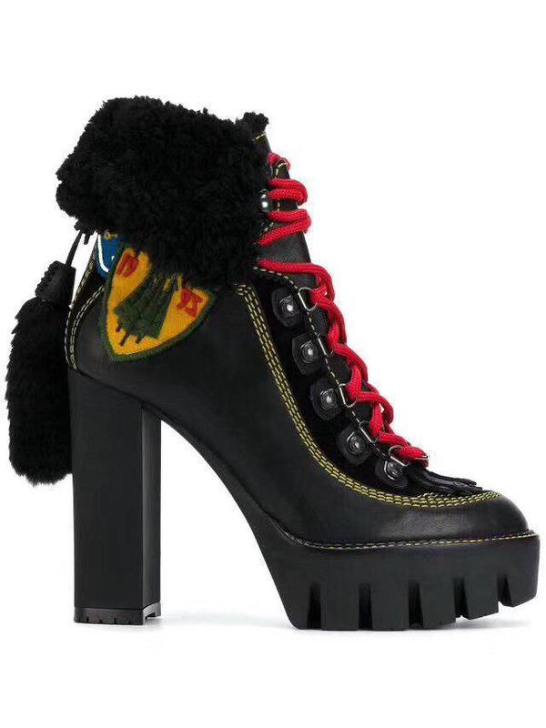 DSQUARED2 ботинки на массивном каблуке
