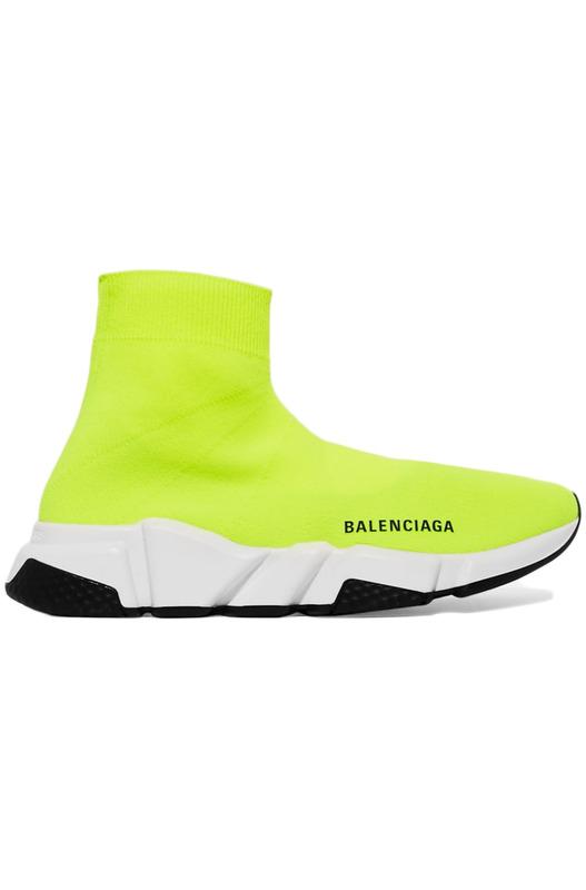 Кроссовки Speed Trainer Neon Bright Yellow Balenciaga, фото