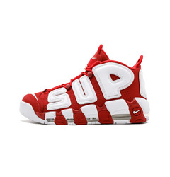 кроссовки Supreme X Nike Air More Uptempo 'Red & White'