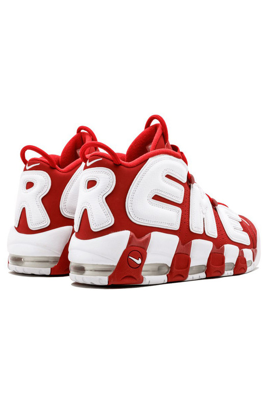 кроссовки Supreme X Nike Air More Uptempo 'Red & White' Nike, фото