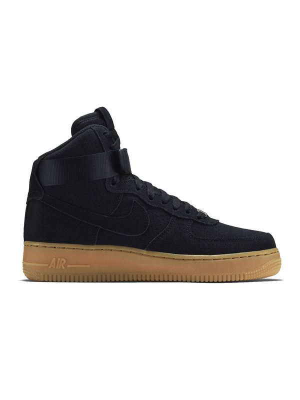 Nike кроссовки Air Force 1 Hi Suede 'Black'