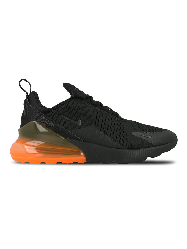 Nike кроссовки Air Max 270 (Black / Black — Total Orange)
