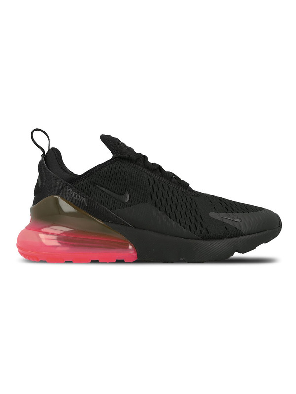Nike кроссовки Air Max 270 (Black / Black — Hot Punch)