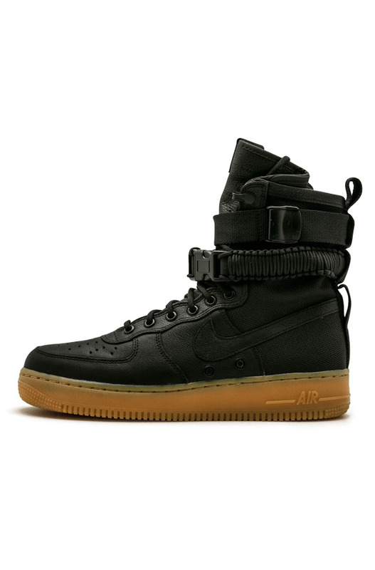 SF AF1 Black/Black-Gum Light Brown Nike, фото