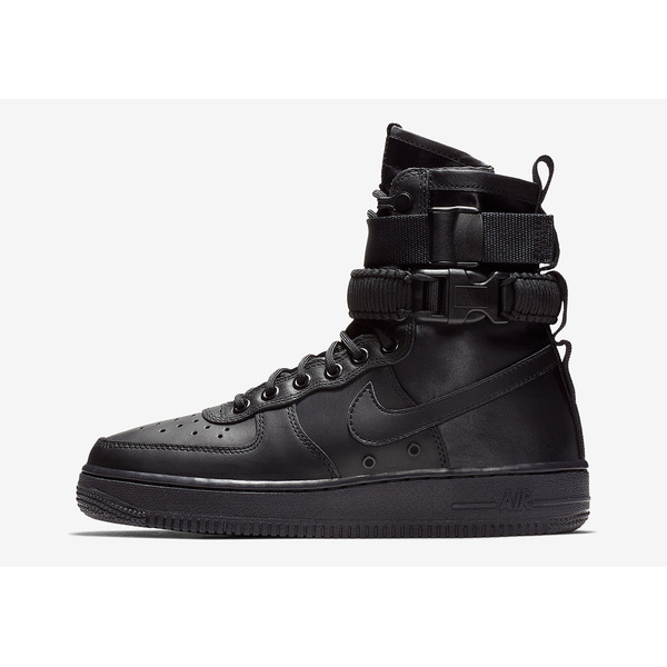 Nike SF-AF1 Triple Black Leather